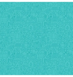 Thin line eco friendly ecology blue seamless vector
