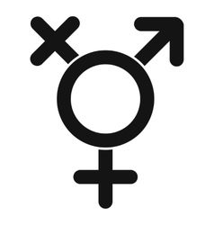 Transgender sign icon simple style vector