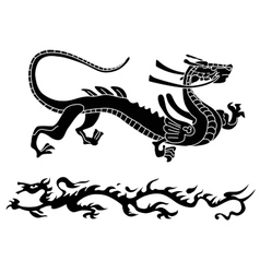 Two ancient dragons vector