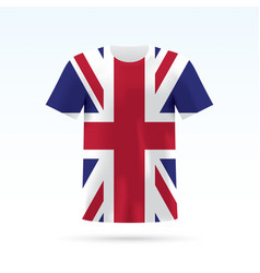 Uk flag t-shirt vector