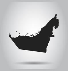 united arab emirates map black icon on white vector image