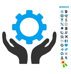 Maintenance flat icon with bonus vector