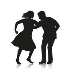 Couple dancing latino dance vector