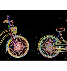 Bicycle retro design vector