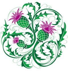 Stylized image of a thistle vector