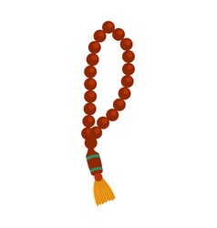 wooden rosary colorful vector image
