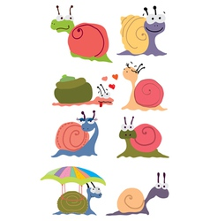 Funny snails vector