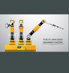 Machine robotic robot arm hand factory vector