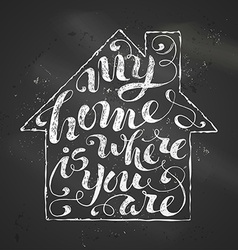 My home is where you are vector