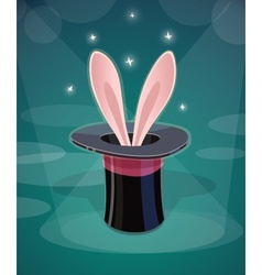 Magic cap and rabbits ear vector image