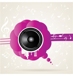 Speaker and splash vector