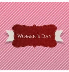 International womens day red greeting card vector