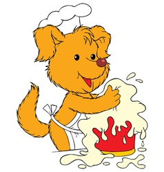 Dog cook vector