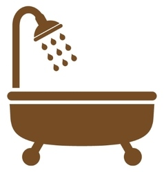 Shower bath flat symbol vector