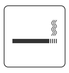 Cigarette icon with filter vector