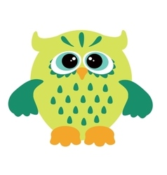 A funny character owl vector