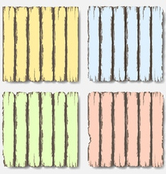 Old wooden fence in pastel colors vector