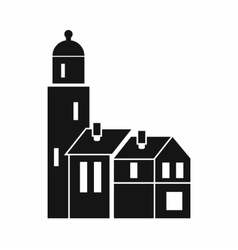 Houses icon simple style vector