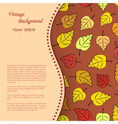 Vintage background with autumn leafs vector