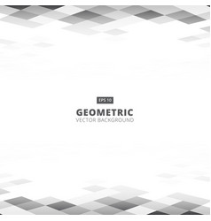 abstract geometric square gray and white color vector image vector image