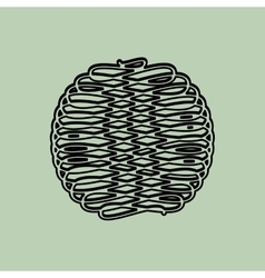 Ball of yarn design vector