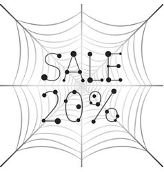 Banner sale 20 percent discount on web vector