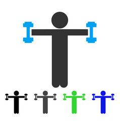 Child fitness flat icon vector