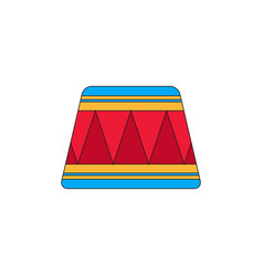 Circle circus or theater stage vector