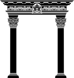 Classic arch stencil vector image vector image