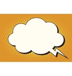 Comic bubble cloud form vector image