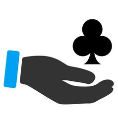 Croupier hand flat icon vector