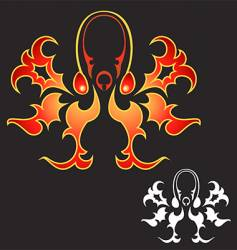 fire octopus vector image vector image