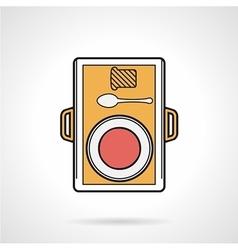 Food tray flat icon vector image vector image