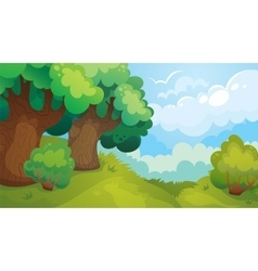 Forest glade game background vector