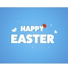 Happy easter logo template vector