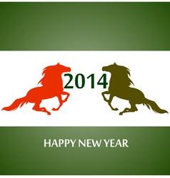 Happy new year 2014 vector image vector image