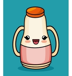 Kawaii bottle juice baby icon vector