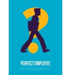 Perfect employee banner with man silhouette vector image vector image