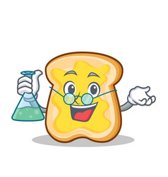 professor slice bread cartoon character vector image vector image