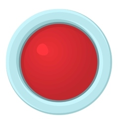 Red stop and panic button icon cartoon style vector image