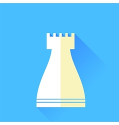 Rook chess icon vector