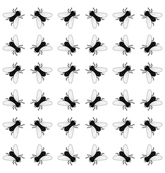 seamless background with flies vector image