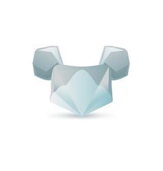 set of minimal geometric animal low poly symbol vector image