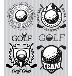 Set of patterns badges for golf vector