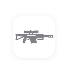 sniper rifle icon gun symbol vector image