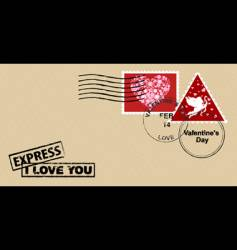 Valentine's day envelope vector image