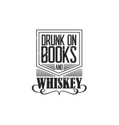 whiskey badge vector image vector image