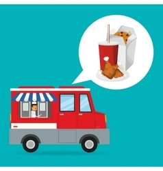 Noodle box and fast food design vector