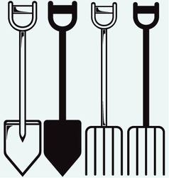 Spade and pitchfork vector image