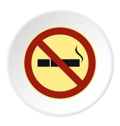 Smoking is prohibited icon flat style vector